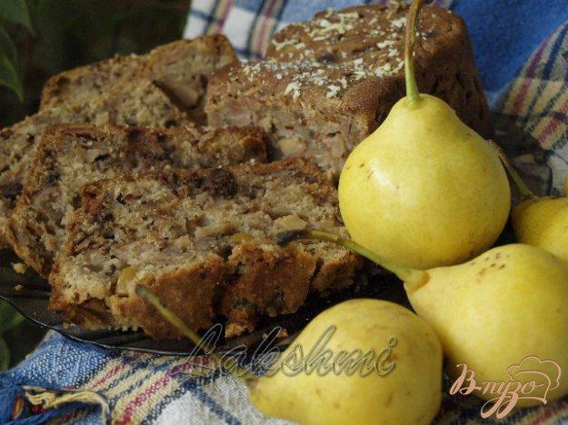 Рецепт Грушёвый кекс с шоколадом
