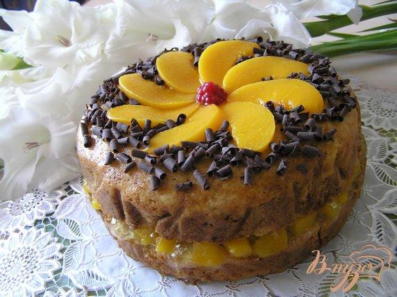 Рецепт Греческий торт с персиками