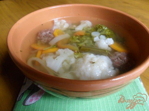 фото рецепта: Летний суп с фрикадельками