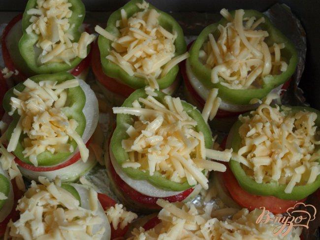 Фото приготовление рецепта: Овощные пирамидки шаг №2