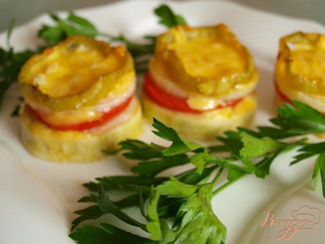 Фото приготовление рецепта: Овощные пирамидки шаг №4