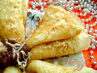 Рецепт Вкусные сырные блины