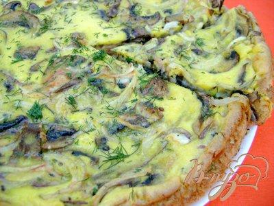 Рецепт Закусочный пирог с ветчинно-грибной начинкой