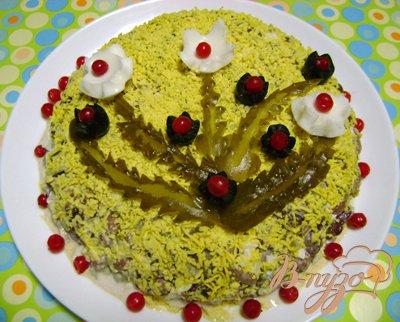 Рецепт Салат с печенью и фасолью