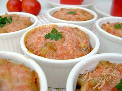 фото рецепта: Порционная запеканка с баклажанами и мясом