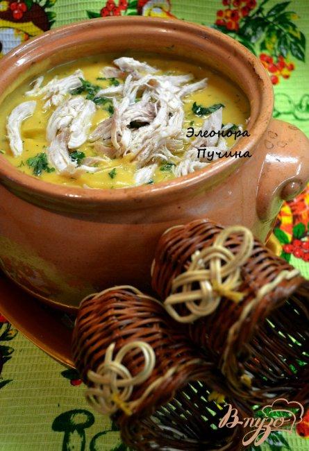 Фото приготовление рецепта: Суп-пюре в горшочке. шаг №4