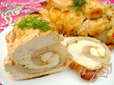 Праздничный мясной рулет из курицы, маринованной в томатно-йогуртовом маринаде!