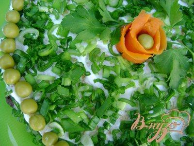 Печёночно-омлетный торт «Весенняя палитра»