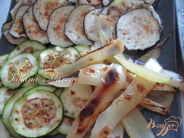 Фото приготовление рецепта: Овощной мильфей с рыбой шаг №3
