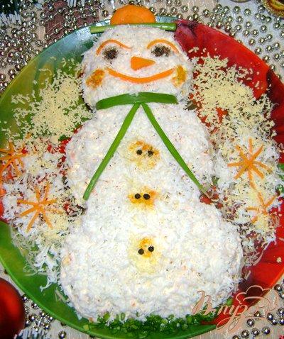 Рецепт Салат «Весёлый снеговик»