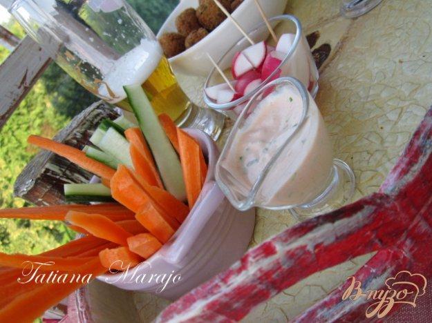 Рецепт Быстрый соус к овощной закусочке..