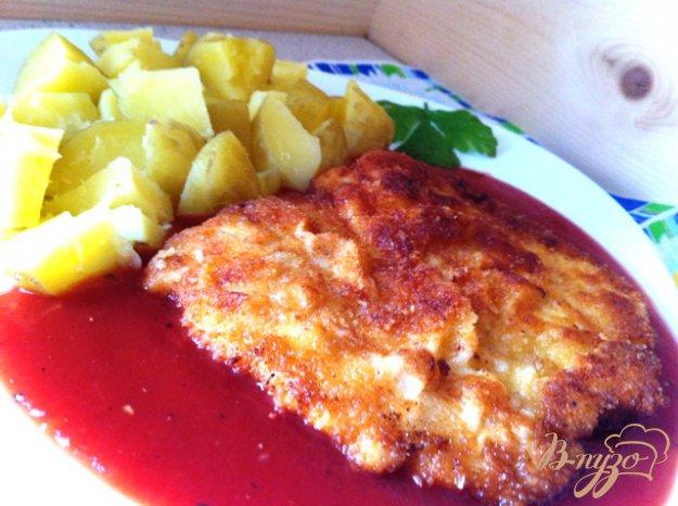 фото рецепта: Отбивные из куриного филе с Пармезаном