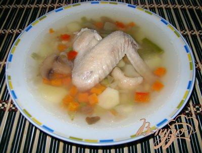 фото рецепта: Овощной суп с куриными крылышками