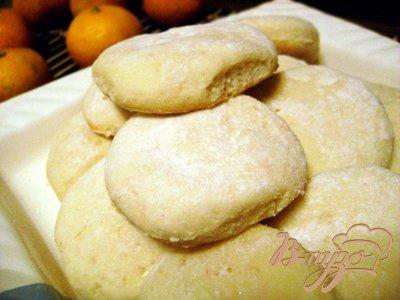 Песочное апельсиновое печенье