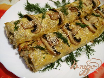 Рецепт Рулет из лаваша с аппетитной начинкой