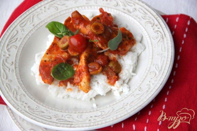 Фото приготовление рецепта: Курица по-сицилийски шаг №6