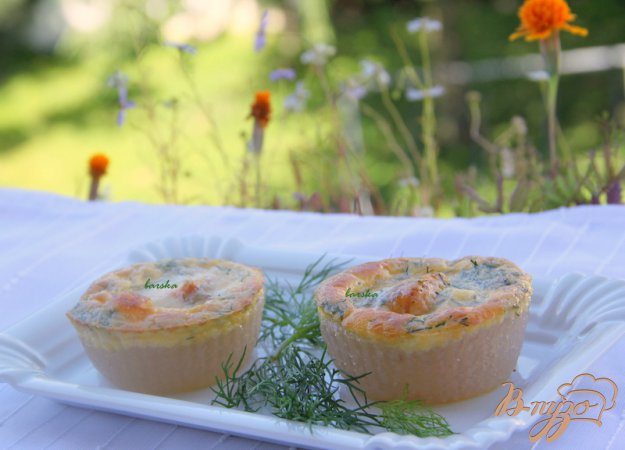 Рецепт Мини-запеканки из саго с лососем