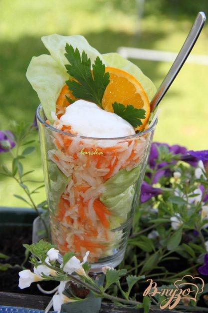 Рецепт Салат из редьки и моркови с сыром