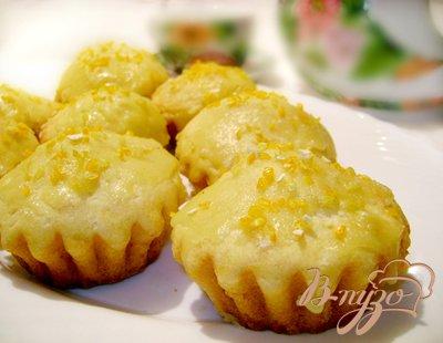 Рецепт Цитрусовые кексы с тыквой на манке!