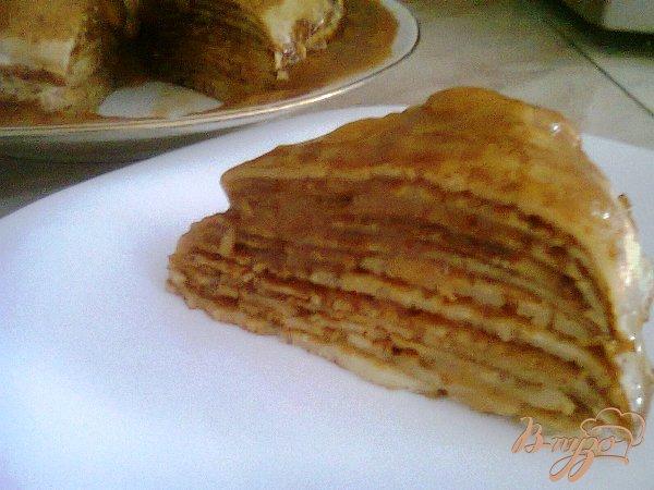 Рецепт Блинный торт с ирисками.