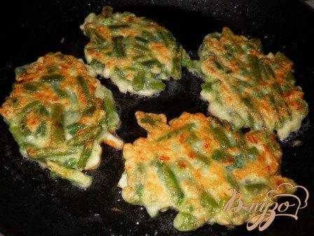 Вегетарианские шницели из стручковой фасоли