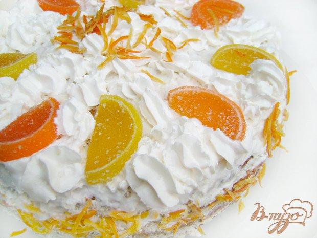 Фото приготовление рецепта: Торт «Цитрусовые облака» шаг №4