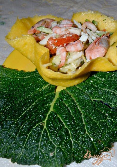 Фото приготовление рецепта: Морской салат в чешуе Дракона!!!) шаг №3