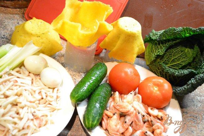 Фото приготовление рецепта: Морской салат в чешуе Дракона!!!) шаг №2