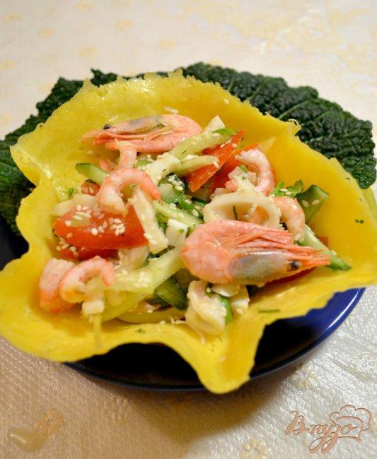 Фото приготовление рецепта: Морской салат в чешуе Дракона!!!) шаг №4