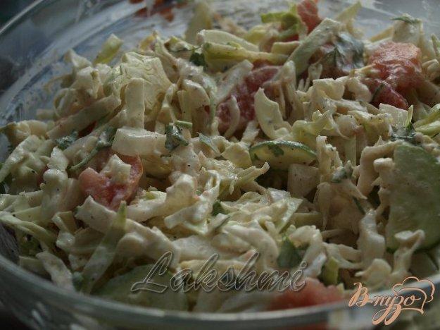 Рецепт Салат из летних овощей со сметаной