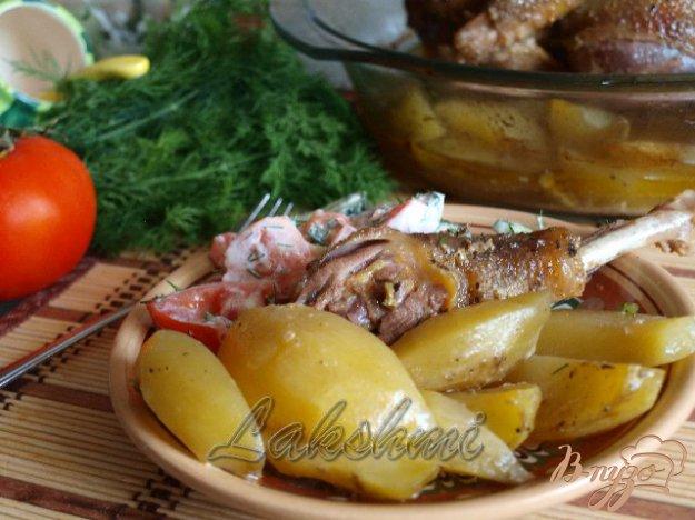 Рецепт Ароматная и сочная курица запечённая с картофелем