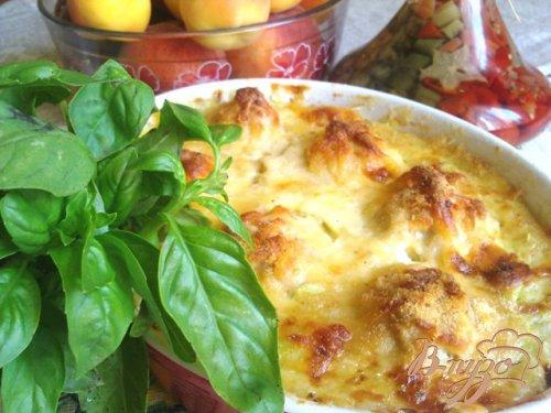 Суфле из кабачка с куриными фрикадельками