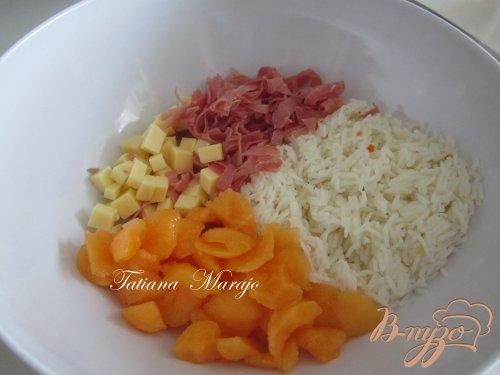 Рисовый салат для летнего ужина