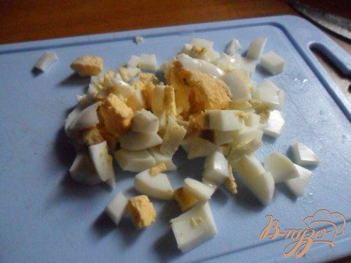 Пирожки с рисом, яйцом и зелёным луком