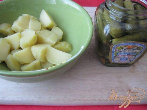 """Тёплый салат с картофелем """"Лето в деревне"""""""