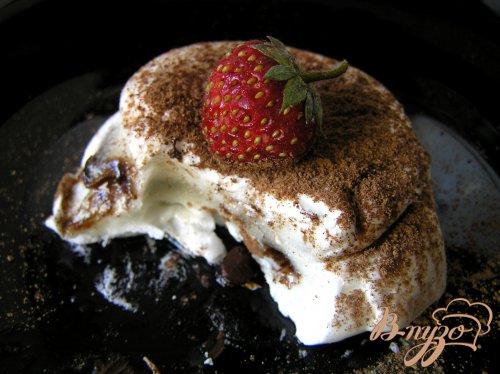 """Десерт """"Облака"""" с шоколадными каплями"""