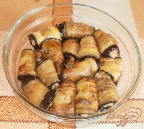 Жареные баклажаны с ореховой начинкой