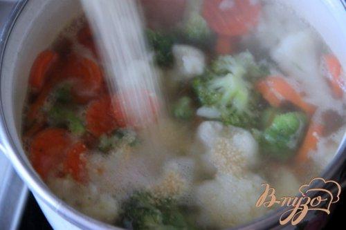 Быстрый овощной суп с кус-кусом