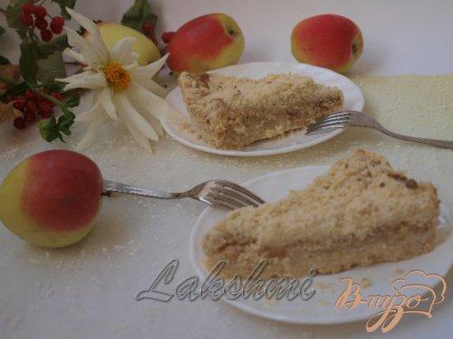 Яблочно-творожный насыпной пирог