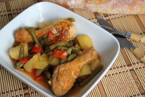 Суринамская курица с  карри