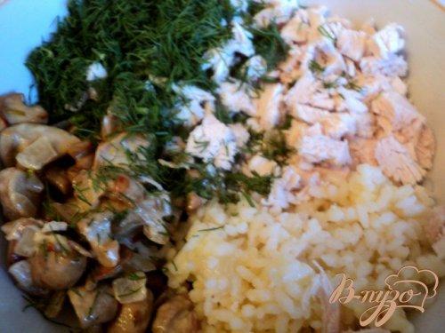 Пирожки закусочные с курицей, грибами и рисом.