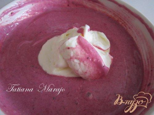Творожно-ягодный десерт