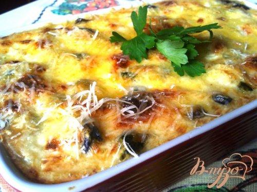 Мидии в сырном соусе