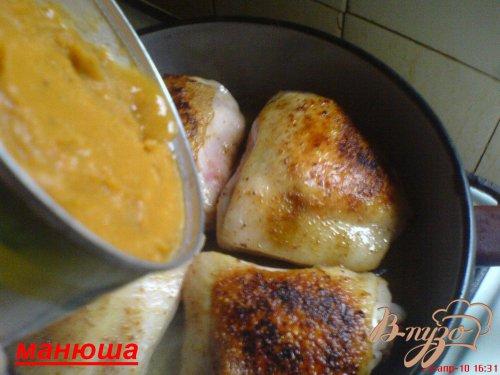 Курица в кабачковой икре