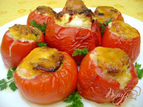 Яйца, запечённые в помидорах!