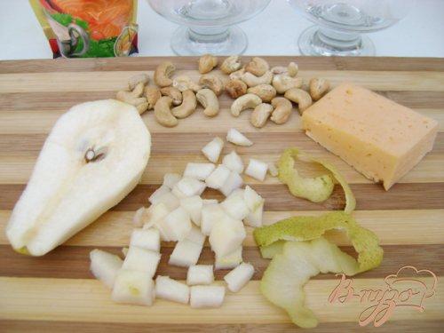 Салат-коктейль с грушей и сыром!