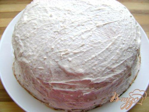 Блинный торт с творожно-банановым кремом
