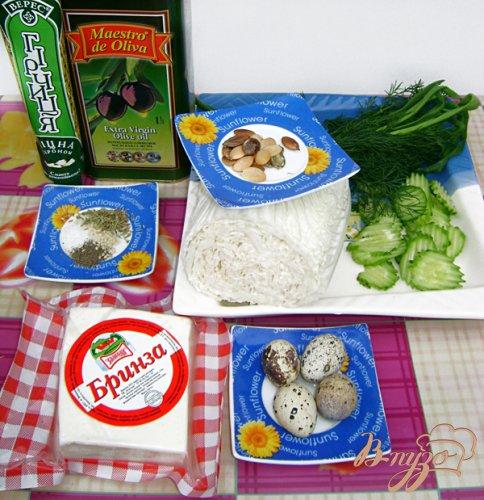 Салат «Авангард» с пекинской капустой, брынзой и горчично-оливковой заправкой