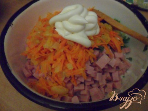 """Салат с фасолью и кинзой """"Юбилейный"""""""