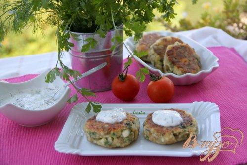 Сырники с баклажанами и зеленью